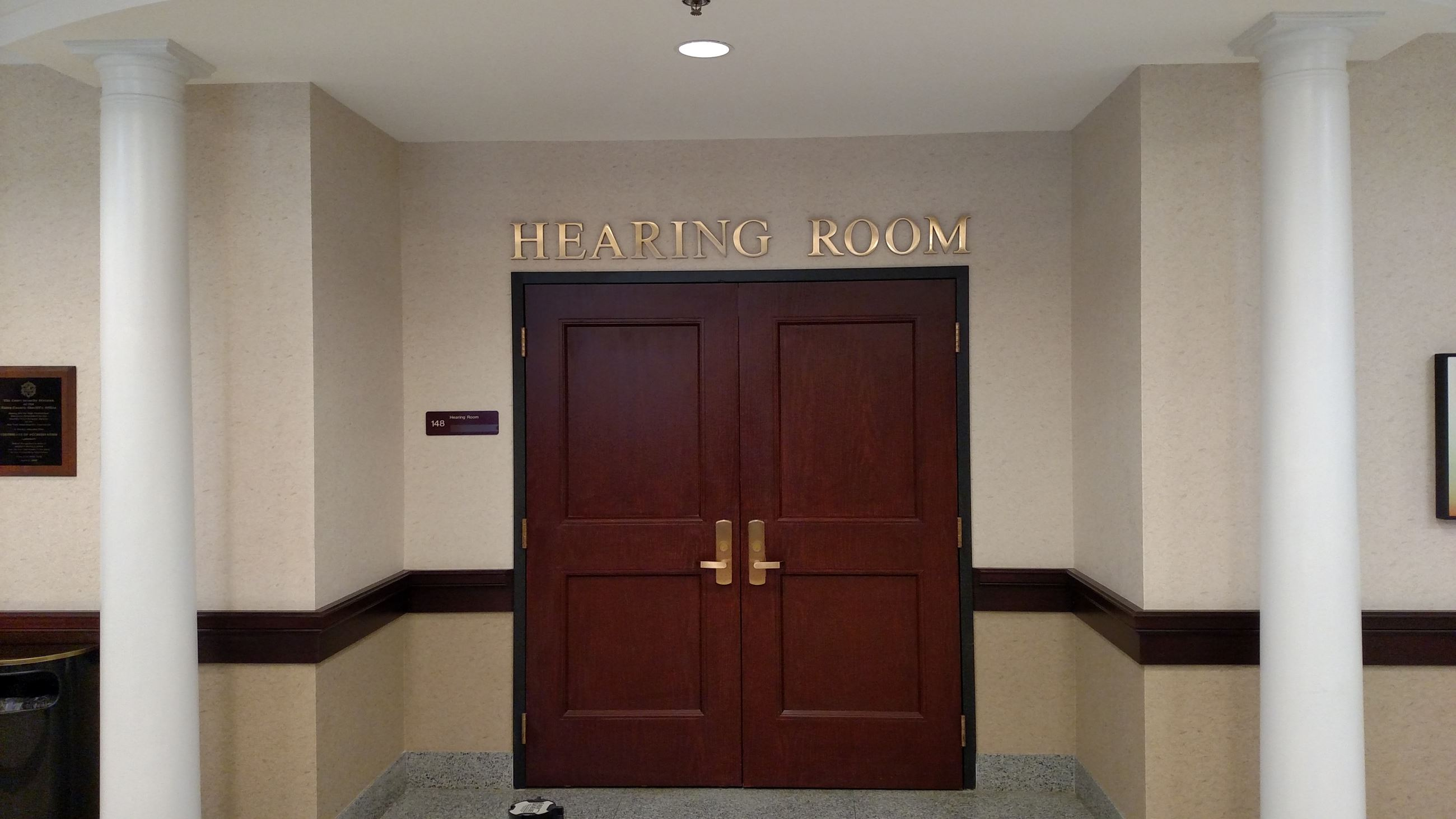 Hearing Room Entrance